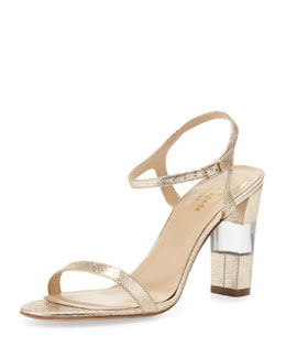 kate spade new york ice metallic ankle-strap sandal