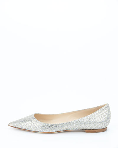 Glitter Pointed Flats Point-toe Ballet Flats