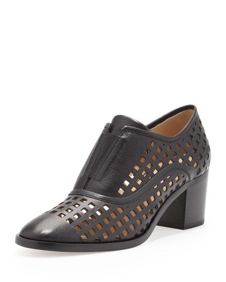Perforated Slip-On Oxford, Black