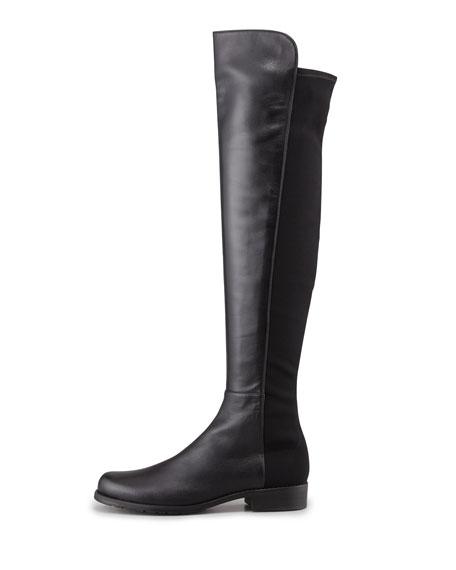 50/50 Narrow Napa Stretch Over-the-Knee Boot, Black