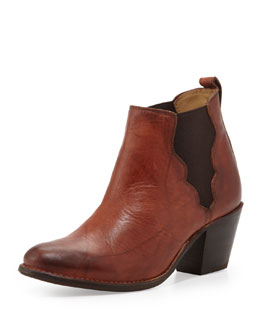 Frye Jackie Gore Ankle Boot, Saddle