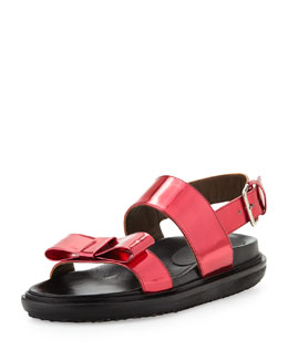 Marni Shiny Leather Platform Sandal