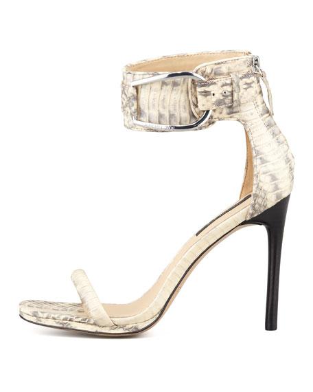 Melina Two-Tone Snakeskin Sandal