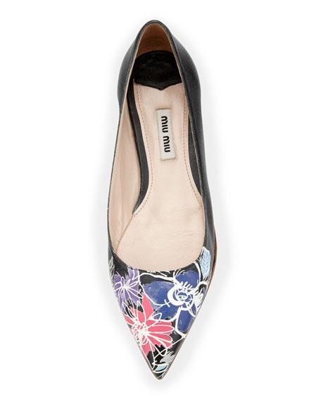 Printed Floral Ballerina Flat