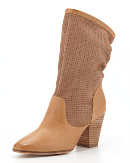 Rebecca Minkoff Brynn Slouchy Perforated Boot, Fatique