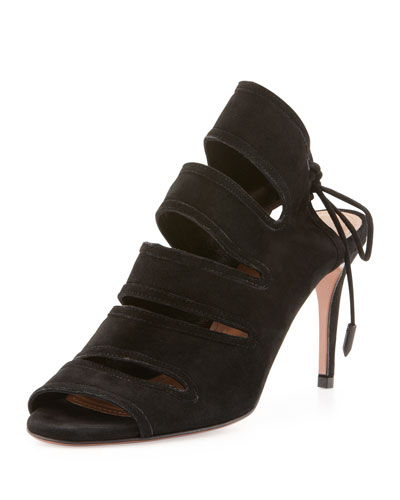 Sloan Suede Tie-Back Sandal