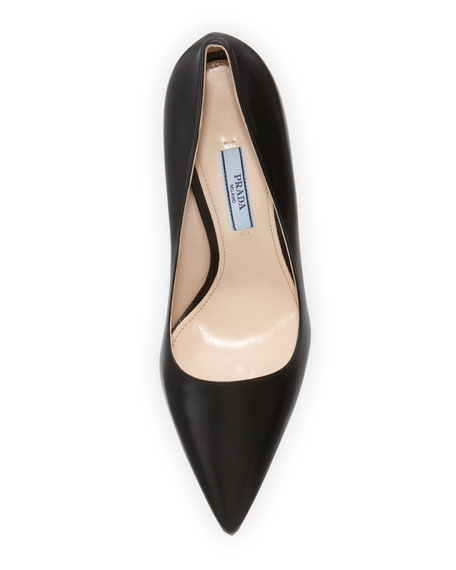 Leather High-Heel Pointy Pump