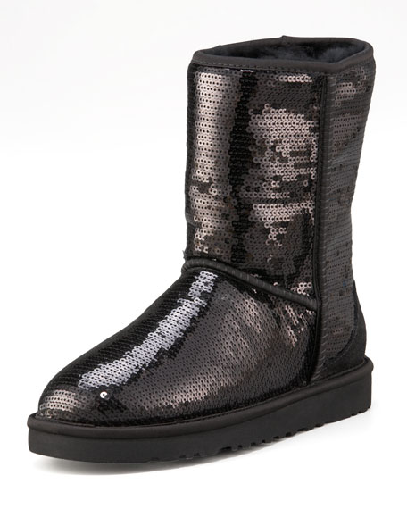 Sequined Sparkles Wool-Lined Boot