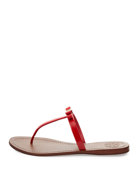 Leighanne Bow Thong Sandal, Carnival Pink