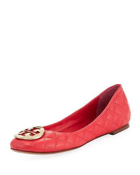 Quinn Quilted Ballerina Flat, Carnival Pink