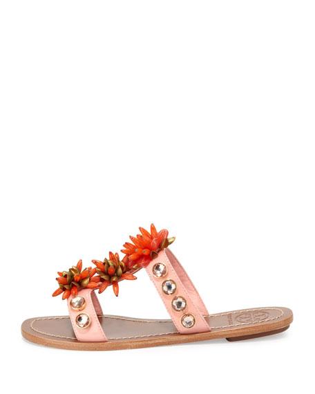 Sydney Embellished Patent Sandal, Sorbet