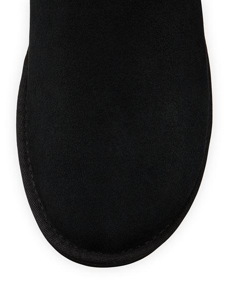 Mini Bailey Striped Bow-Back Boot, Black