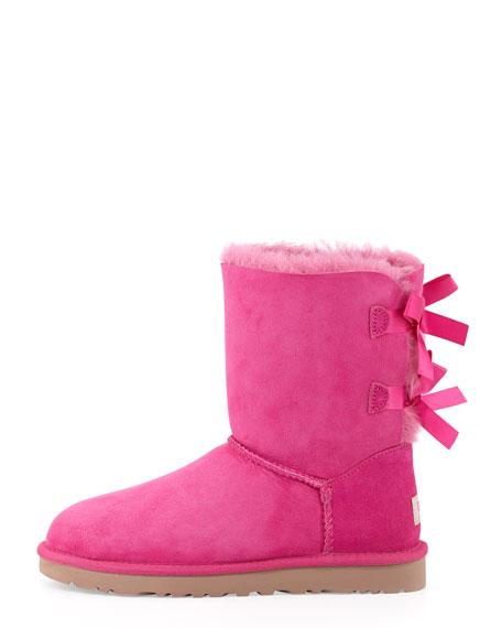 Bailey Bow-Back Short Boot, Princess Pink