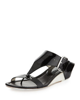 Donald J Pliner Doli Buckled Demi-Wedge Slide, Black