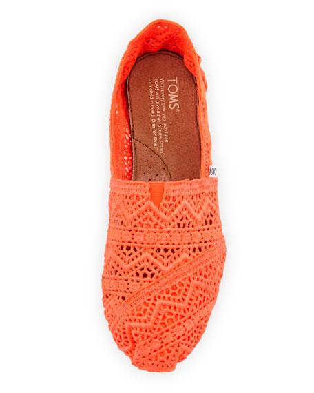 Crochet Slip-On, Orange