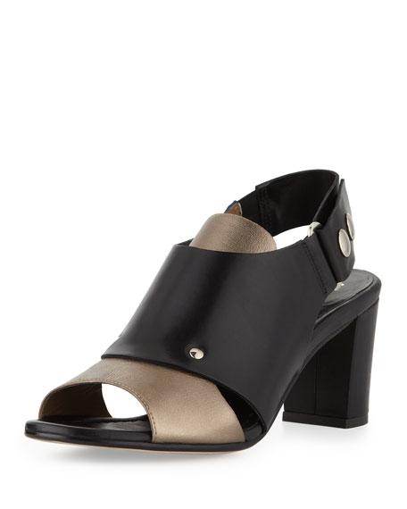 Athena Slingback Sandal, Pewter/Black