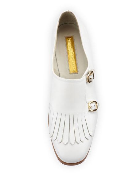 Calfskin Monk Strap Loafer, White