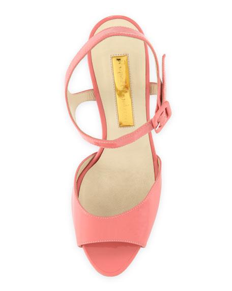 Patent Leather Sandal, Pool