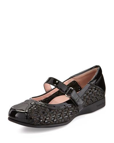 True Woven Mary Jane Sneaker, Black
