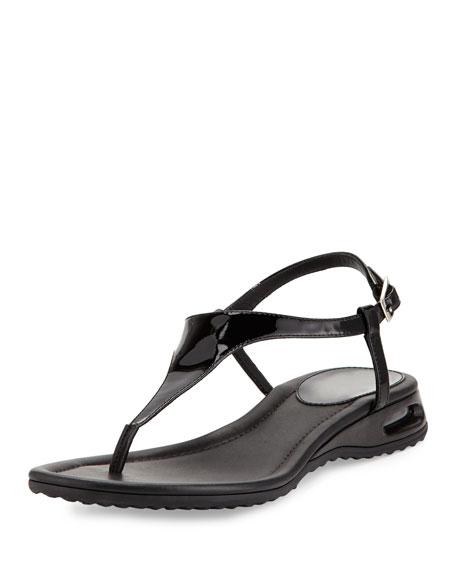 Air Bria Patent Thong Sandal, Black
