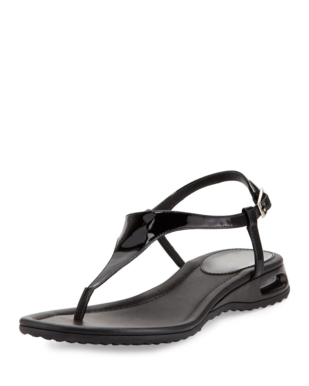 dcc513b3b06 Cole Haan Air Bria Patent Thong Sandal, Black | Neiman Marcus