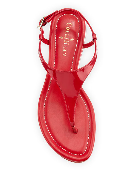 Air Bria Patent Thong Sandal, Tango Red