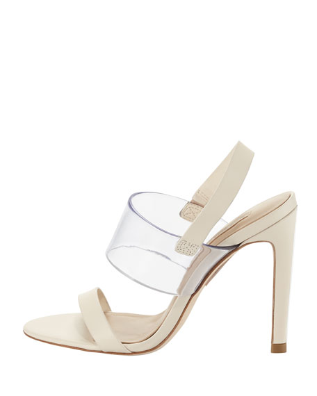 Jash Vinyl & Leather Slingback Sandal, Parfait