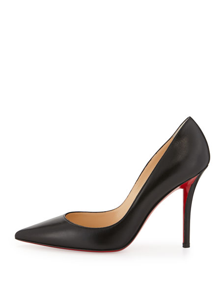 Image 2 of 3: Apostrophy Pointed Red-Sole Pump, Black