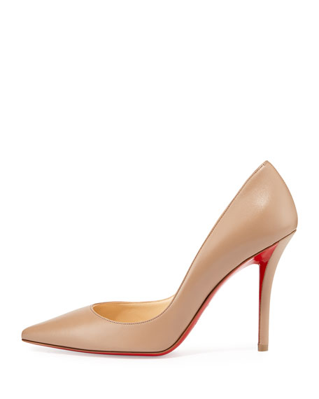 Apostrophy Pointed Red-Sole Pump, Neptune