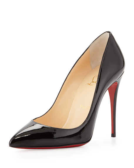 best replica shoes - Christian Louboutin Pigalle Follies Point-Toe Red Sole Pump, Black