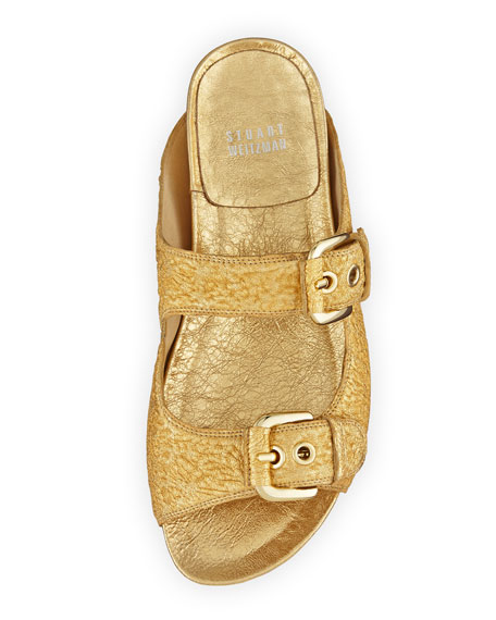 Freely Metallic Foil Sandal, Gold
