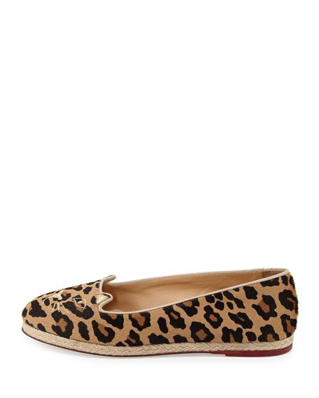 Charlotte Olympia Capri Cats Leopard-Printed Pony Flat
