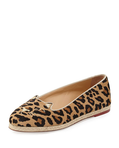 Charlotte OlympiaCapri Cats Leopard-Printed Pony Flat