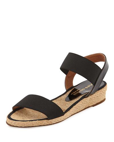 Dera Demi-Wedge Sandal, Black