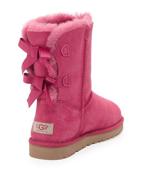 Bailey Bow-Back Short Boot, Victorian Pink