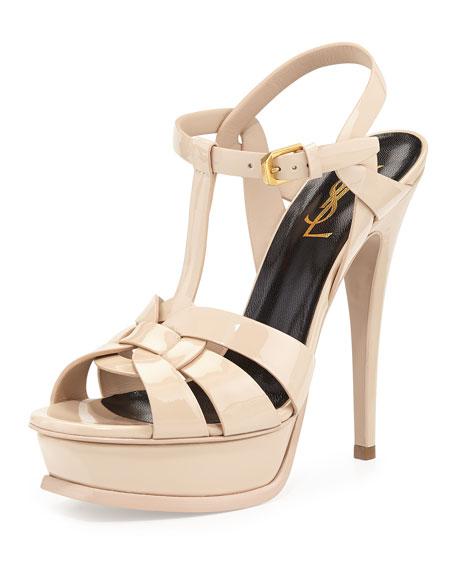 Saint Laurent Tribute Patent Platform Sandal