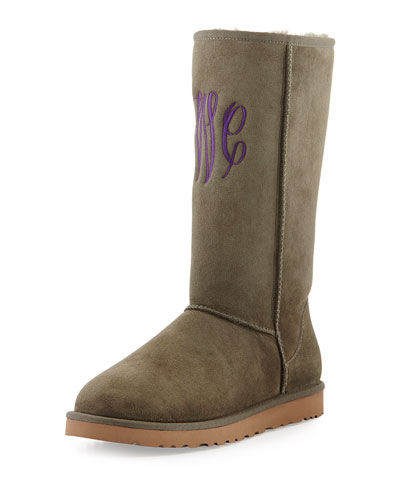 UGG Australia Monogrammed Classic Tall Boot, Forest Night