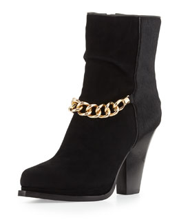 3.1 Phillip Lim Berlin Chain-Strap Ankle Boot, Black