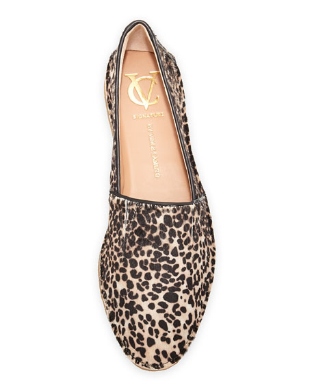 Alisaa Leopard-Print Slip-On Loafer