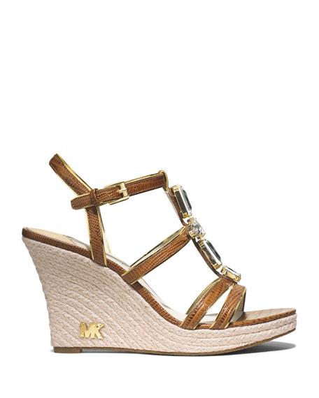 Jayden Jeweled Wedge Sandal