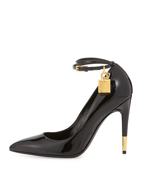 Patent Ankle-Lock Pump, Black