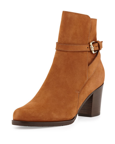 Aleena Nubuck Ankle Boot, Toffee