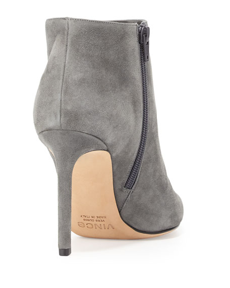 Chara Suede Ankle Boot, Graphite