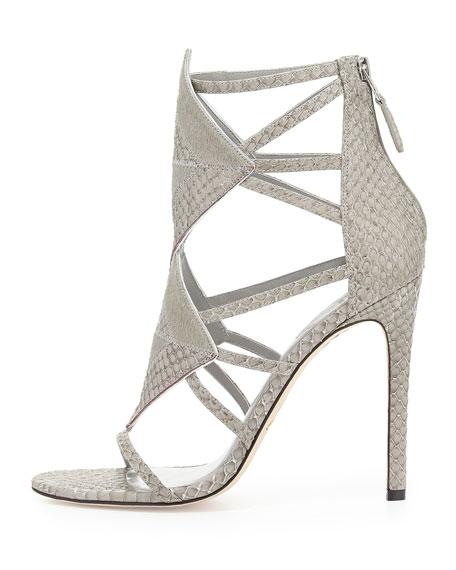 Luanna Mixed Media Sandal, Light Gray