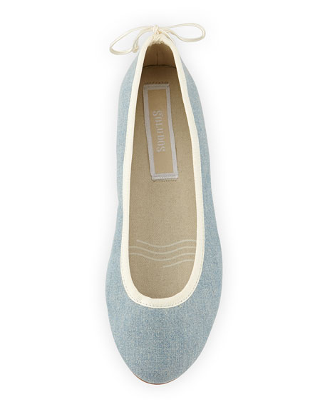 Slip-On Denim Ballet Flat, Denim