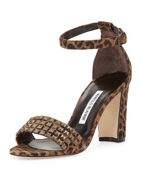 Lauratostud Leopard-Print Sandal