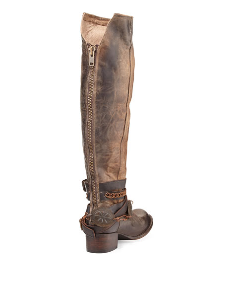 Aspen Leather Knee Boot, Brown