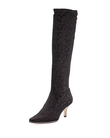 Donald J Pliner Luca Stretch Velvet Boot, Black