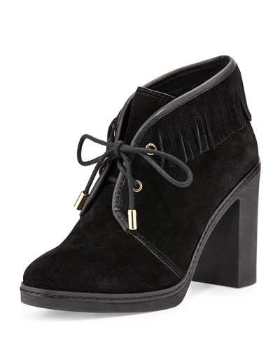 Tory Burch Hilary Shearling-Lined Fringe Bootie