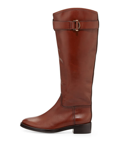Grace Leather Riding Boot, Sienna